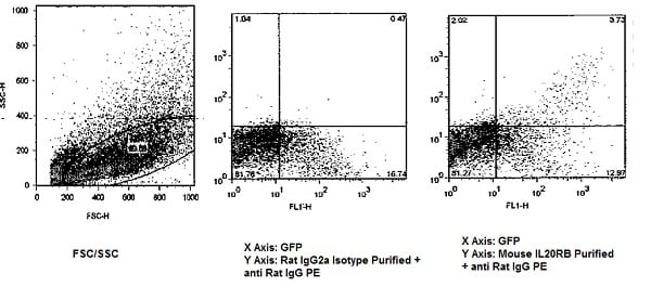 Flow Cytometry - Anti-IL-20R2 antibody [20RNTC] (ab95824)